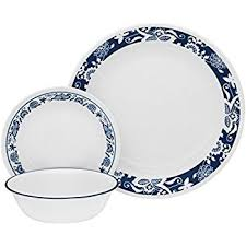 amazonbasics 16 cafe stripe dinnerware set