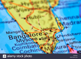 India On The World Map by Bangalore City In India Asia On The World Map Stock Photo