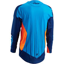 thor motocross jersey thor core s16 motocross jersey contro blue neon orange 2016