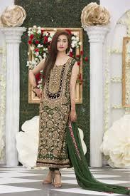 exclusive bottle green mehndi dress exclusive online boutique