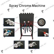 new design silver and gold color spray chrome machine for paint