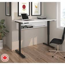 tresanti sit to stand power height adjustable tech desk desks costco