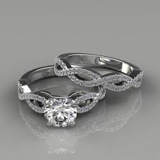 bridal set rings infinity design cut bridal set rings puregemsjewels