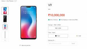 Vivo V9 Vivo V9 Went Live In Vivo India S Website Ahead Of Launch Specs