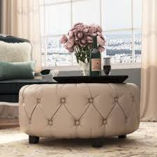 How To Make An Upholstered Ottoman by Round Ottomans U0026 Poufs You U0027ll Love Wayfair