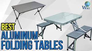 Collapsible Coffee Table by 10 Best Aluminum Folding Tables 2017 Youtube