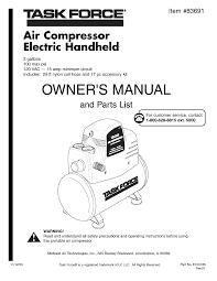 task force a lowe u0027s brand air compressor 83691 user guide