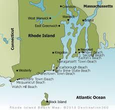 map rhode island rhode island beaches map map of newport rhode island beaches