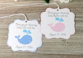 baby shower thank you gifts whale baby shower favor tags nautical baby shower thank you tags