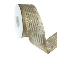 ribbon with wire ribbons fabric ribbon metallic 38mm