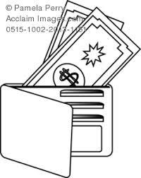 art illustration open wallet money credit cards