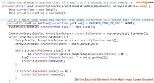 Map In Java How To Remove Expired Elements From Hashmap And Add More Elements