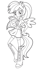 coloriage equestria girls u2013 friendship games coloriages pour