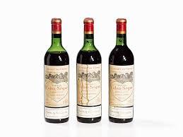 château calon ségur grand cru 3 bottles 1961 château calon ségur estèphe