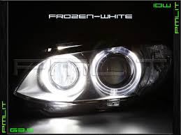bmw x5 headlights 04 06 bmw x5 white g3 5 10w led headlights halo bulbs
