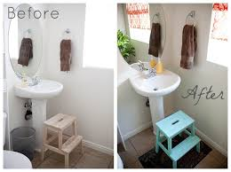 Cheap Bathroom Makeover Ideas Small Bathroom Makeover On A Budget Home Design And Decorating