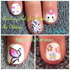 five easy nail art designs for children diy freehand nail art