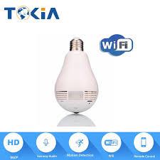 motion detector light with wifi camera 960p bulb wireless ip bulb camera wifi hd 360 degree panoramic