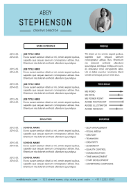 Resume Format For Job In Word by The Abby Resume Minimalist Template
