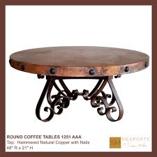 copper top coffee table copper top dining table braemar copper dining table t iron bridge