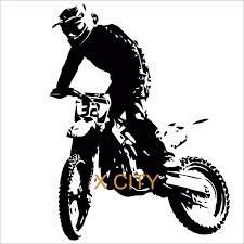 compare prices on bike mural online shopping buy low price bike motorcycle wall sticker motocross bike vinyl decal cool extreme sport art decor home mural stencil 30