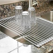 over the sink dish drying rack surpahs over the sink multipurpose roll up dish drying rack warm