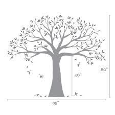 Wall Stickers Trees Family Tree Decal Two Colors Wall Decals Scheme A