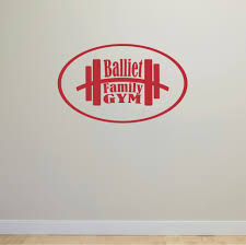 custom name wall decals and personalized graphics personalized picture of personalized name gym