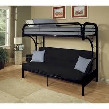 Acme Eclipse Twin XL Over Futon Metal Bunk Bed Black Walmartcom - Metal bunk bed futon combo