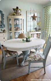 blue painted dining table blue and white dining room table and chairs makeover painted with