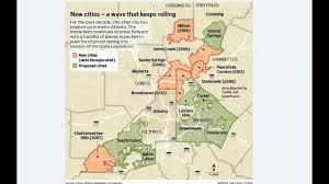 Metro Atlanta Map The Creation Of Metro Atlanta Cities Youtube