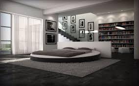 chambre avec lit rond un lit rond avec des formes harmonieuses