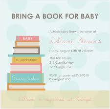 Books Instead Of Cards For Baby Shower Poem Bring A Book Baby Shower Invitations Paperinvite