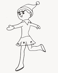 awesome ideas elf on the shelf coloring page merry christmas