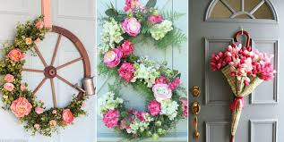 spring door wreaths 20 diy spring wreaths how to make a spring wreath yourself