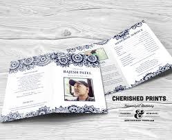 print funeral programs indian block print celebration of programs funeral program