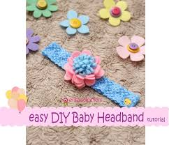 bando headbands easy diy baby headband tutorial pink blue erika felt flanel