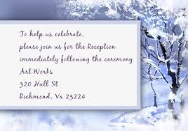 Wedding Invitations And Reception Cards Cheap Romantic Snowy Scenery Winter Wedding Card Ewi093 As Low As