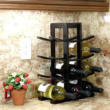 wine rack tabletop wine bottle and glass holder tabletop wine