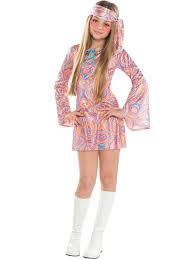 teen disco diva costume 60s hippy fancy dress child