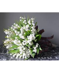 bridal flower brides bouquet of the valley posy artificial bridal