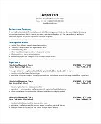 Sample Of Resume Format In Word by Coach Resume Template 6 Free Word Pdf Document Downloads