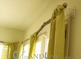 Rustic Curtains And Drapes Diy Idea A Rustic Tree Branch Curtain Rod Huffpost
