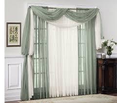 Black Scarf Valance 1pc Tulip Floral Curtain Door Window Screening Curtain Sheer Drape