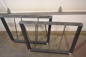 steel tapered metal table desk bench legs w rebar posts any