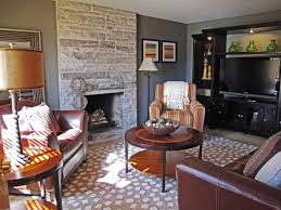 interior wonderful ideas of white stone wall living room brings