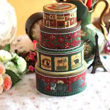christmas tins 4pcs lot christmas decorations for home tin storage sealed