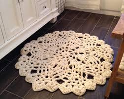hand knit rug etsy