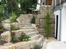 garten treppe steintreppen haufler baumschule und gartengestaltung