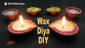 diy wax diya for diwali decoration how to make candles jk arts